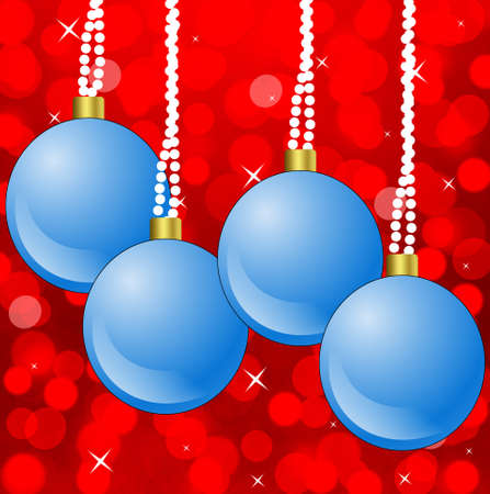 newyear: bright festive round new-year marbles, illustration