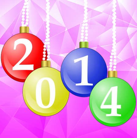 new-year marbles with the numbers of coming year, illustration illustration