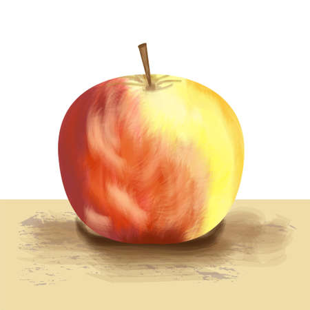 deliciously: the picture of apple on a white background, vectorial illustration