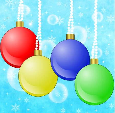 newyear: bright festive round new-year marbles, illustration