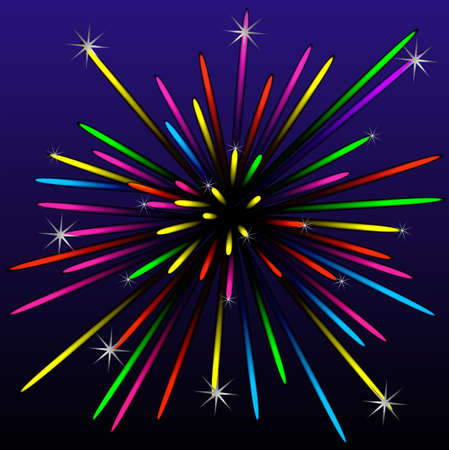 banger: festive bright beautiful banger, vectorial illustration
