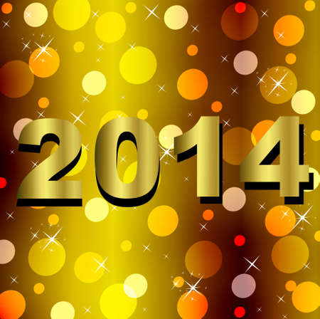 numbers of coming year 2014 on a bright background,illustration illustration