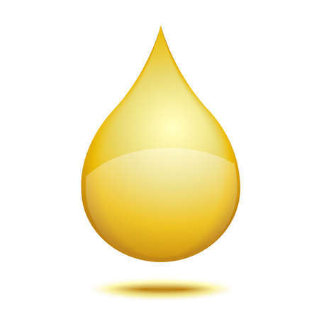 brightly: drop of gold on a white background, vector illustration