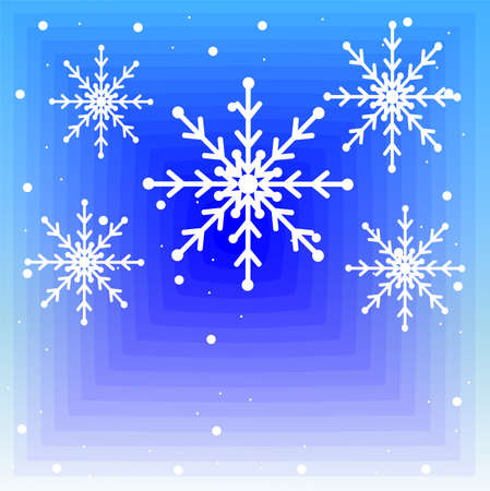newyear: new-year festive background with snowflakes,  vector  illustration