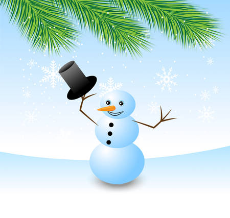 amusing snow man uncaps,vector illustration Vector