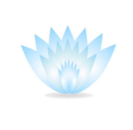 gently blue: gently blue flower on a white background,vector illustration