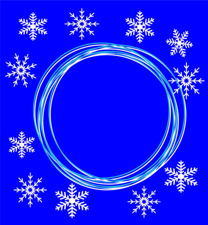 new-year festive background with snowflakes,  vector  illustration Vector