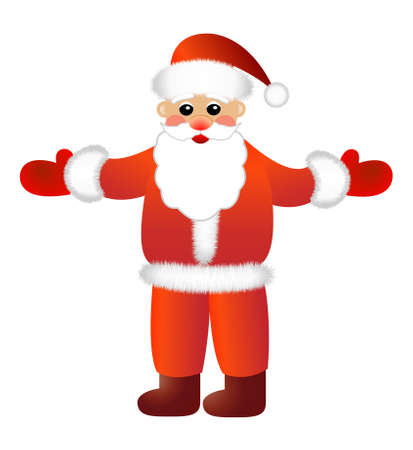 coldly: Santa claus on a white background,  vector illustration Illustration