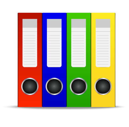 belonging: bright folders for documents on a white background,vector illustration Illustration