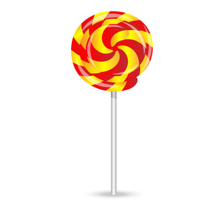 deliciously: bright lollipop on a white background,vector illustration