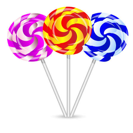 deliciously: bright lollipops on a white background,vector illustration