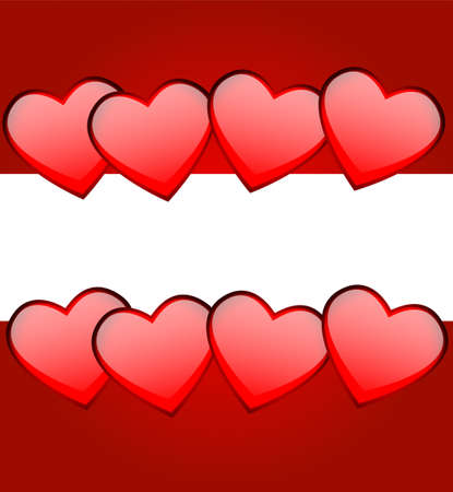 day saint valentin: Bright red background with hearts to the day of saint Valentin