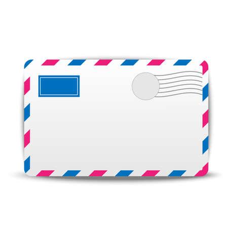 addressee: envelope air on a white background,  vector  illustration