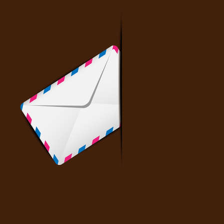 addressee: envelope air in a mailbox,  vector  illustration