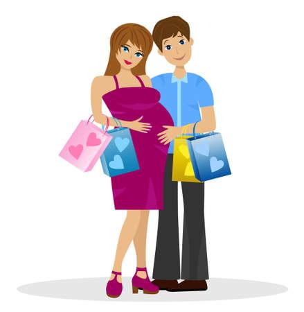 bekleyen: Satın alma ile çocuğun beklentisiyle genç evli çift