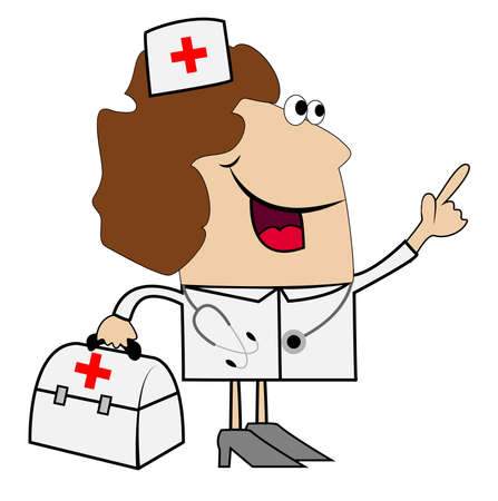specialities: woman doctor on white background, vector illustration Illustration