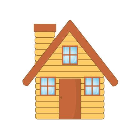 Belle maison en bois, illustration Banque d'images - 27548122