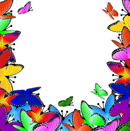 spot the difference: beautiful background with butterflies, vector illustration