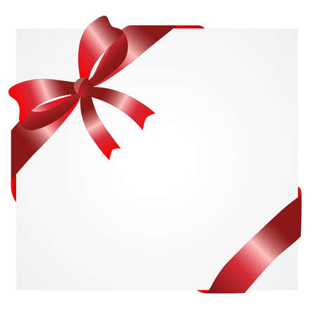 greetingcard: Greeting-card with a red bow