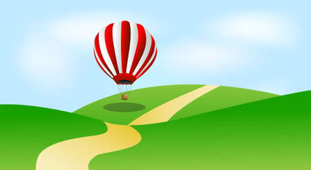 glade: large balloon in blue sky