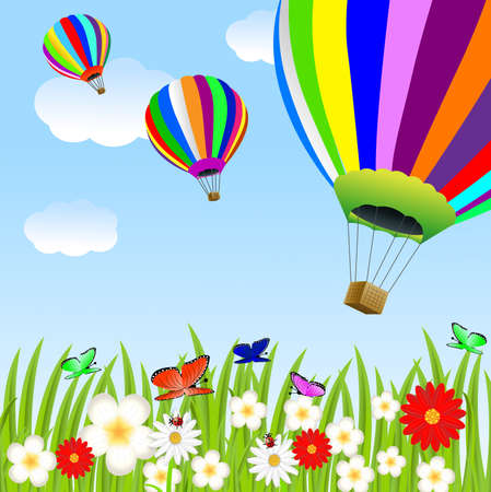 balloon and floral glade