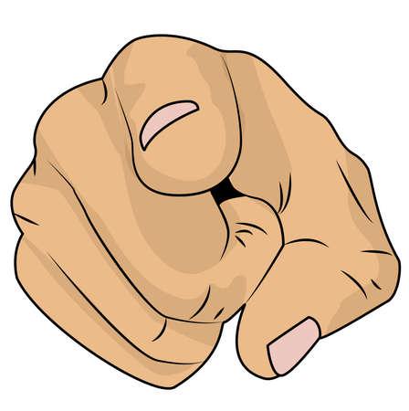 hand shows an index finger 向量圖像