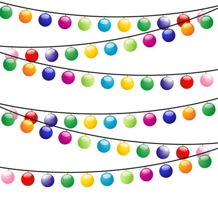 gladness: christmas background with  festive garlands,vector illustration