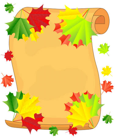 background for a design with the autumn leaves of maple,vector illustration Vector