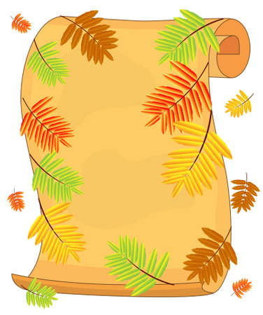 background for a design with the autumn leaves of wild ash Vector
