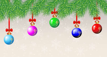 festive christmas background with balls,  vector  illustration Vector