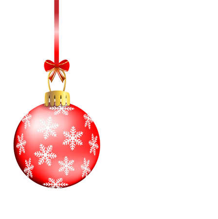 festive christmas background with ball,  vector  illustration Vector