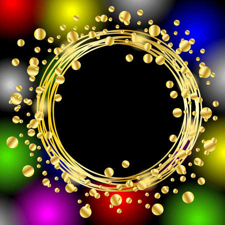 spangles: christmas bright background with gold spangles ,  vector  illustration Illustration