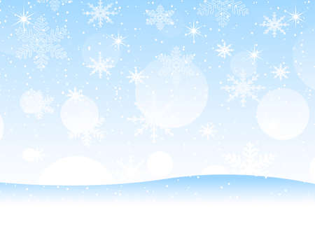 snowdrift: blue background with snowflakes,  vector  illustration Illustration