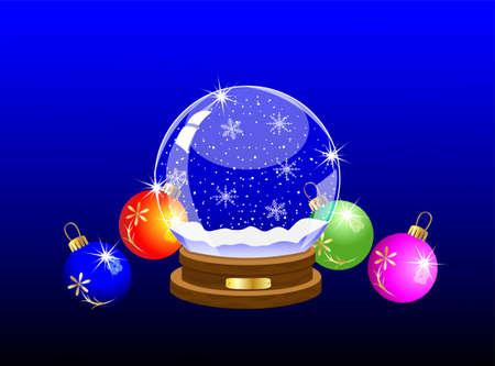 varicoloured: bola festivo vidrio y m�rmoles multicolores, ilustraci�n vectorial Vectores