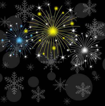 banger: festive banger on a black background,  vector  illustration