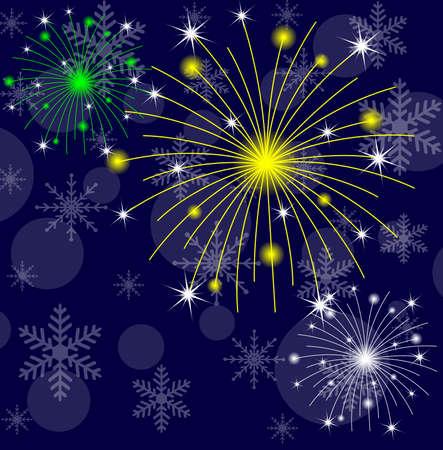 banger: festive banger on a dark blue background,  vector  illustration