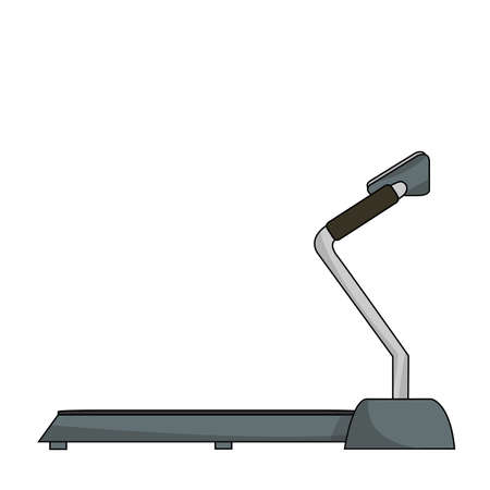 Treadmill on a white background. Vector illustration