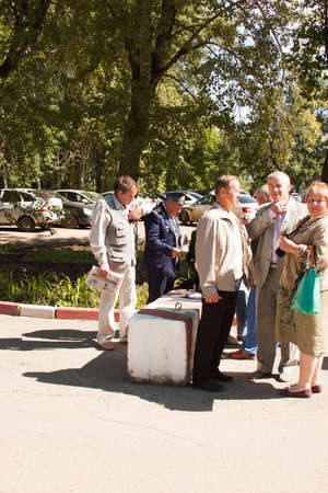 perm: Meeting of veterans of aviation college of city of Perm
