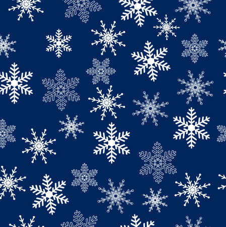 christmas snowflakes: Seamless christmas background with snowflakes, vector illustration