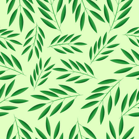 green branches: Seamless background with green branches,  vector  illustration Illustration