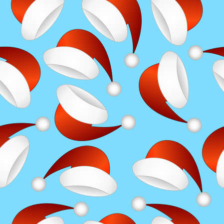 christmas hats: Seamless pattern with Christmas hats, vector illustration Illustration