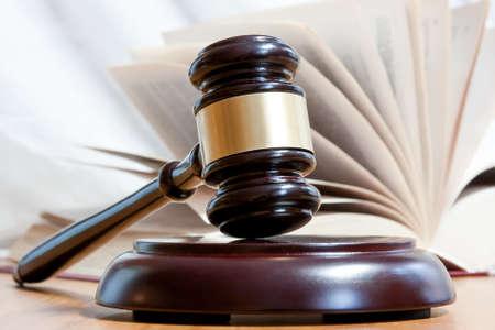 judicial: Judicial hammer and the open book Stock Photo
