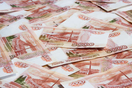 thousandth: Russian money, five thousandth bills