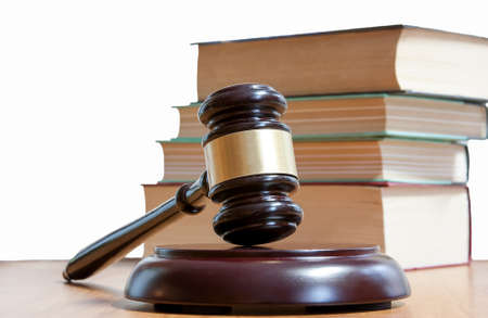 judicial: Judicial hammer and codes of laws of the Russian Federation Stock Photo