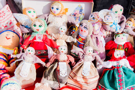 gamme de produit: PERM, RUSSIA - March 13, 2016: Trade stalls selling soft toys in celebration of Maslenitsa �ditoriale