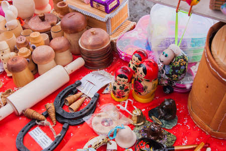 13: PERM, RUSSIA - March 13, 2016: Sales of gifts and souvenirs in celebration of Maslenitsa Editorial
