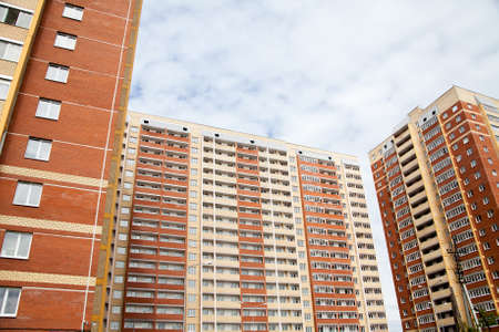 Perm, Russia - Residential new high-rise buildings in a modern area Editorial
