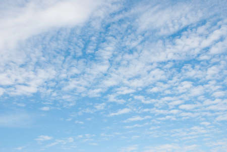 cirrus: Day, blue sky with Cirrus clouds. Natural background Stock Photo