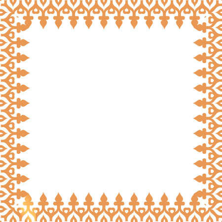 light brown: decorative light brown frame. Vector