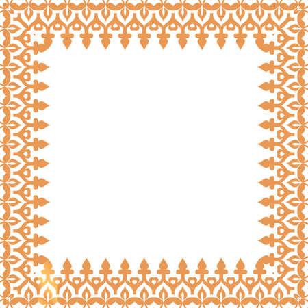 light brown: decorative light brown frame. Vector
